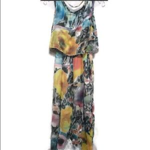 Maxi Length Fall Colors Spring Dress Floral BOHO